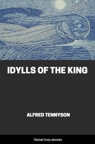 cover page for the Global Grey edition of Idylls of the King by Alfred Tennyson