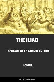 cover page for the Global Grey edition of The Iliad by Homer