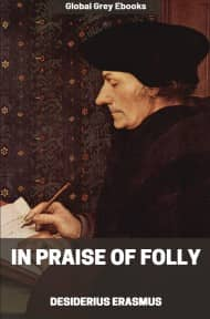 cover page for the Global Grey edition of In Praise of Folly by Desiderius Erasmus