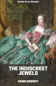 cover page for the Global Grey edition of The Indiscreet Jewels by Denis Diderot