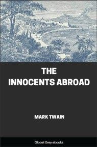 cover page for the Global Grey edition of The Innocents Abroad by Mark Twain