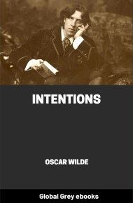 cover page for the Global Grey edition of Intentions by Oscar Wilde