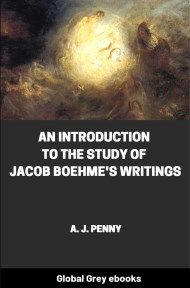 cover page for the Global Grey edition of An Introduction to the Study of Jacob Boehme's Writings by A. J. Penny