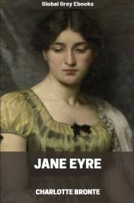 cover page for the Global Grey edition of Jane Eyre by Charlotte Bronte