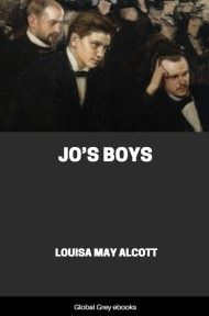 cover page for the Global Grey edition of Jo's Boys by Louisa May Alcott