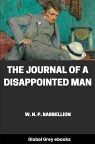 cover page for the Global Grey edition of The Journal of a Disappointed Man by W. N. P. Barbellion