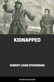 cover page for the Global Grey edition of Kidnapped By Robert Louis Stevenson