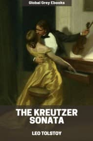 cover page for the Global Grey edition of The Kreutzer Sonata by Leo Tolstoy