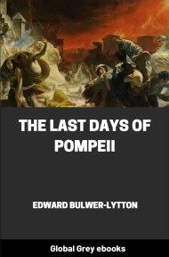 cover page for the Global Grey edition of The Last Days of Pompeii by Edward Bulwer-Lytton