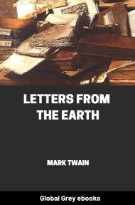 cover page for the Global Grey edition of Letters from the Earth by Mark Twain