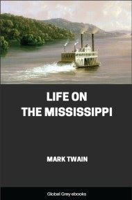 cover page for the Global Grey edition of Life on the Mississippi by Mark Twain