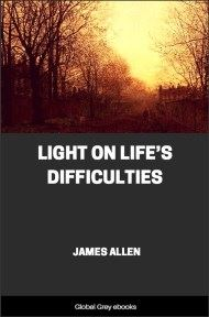 cover page for the Global Grey edition of Light on Life's Difficulties by James Allen