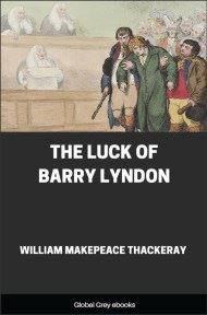 cover page for the Global Grey edition of The Luck of Barry Lyndon by William Makepeace Thackeray