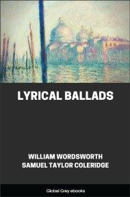 cover page for the Global Grey edition of Lyrical Ballads by William Wordsworth