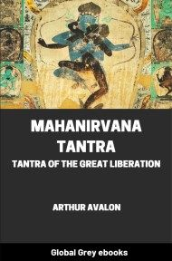 cover page for the Global Grey edition of Mahanirvana Tantra by Arthur Avalon