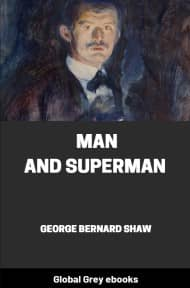 cover page for the Global Grey edition of Man and Superman by George Bernard Shaw