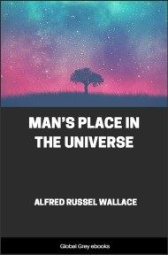cover page for the Global Grey edition of Man's Place in the Universe by Alfred Russel Wallace