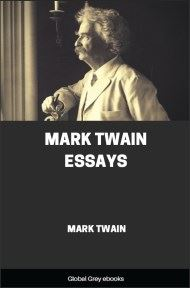 cover page for the Global Grey edition of Essays by Mark Twain