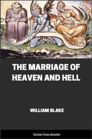 cover page for the Global Grey edition of The Marriage of Heaven and Hell by William Blake