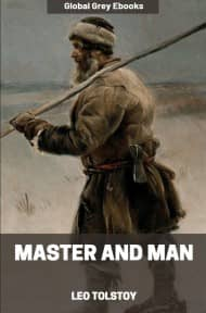 cover page for the Global Grey edition of Master and Man by Leo Tolstoy