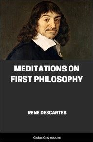 cover page for the Global Grey edition of Meditations on First Philosophy by Rene Descartes