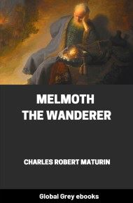 cover page for the Global Grey edition of Melmoth the Wanderer by Charles Robert Maturin