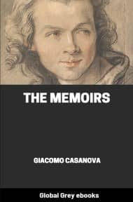 cover page for the Global Grey edition of The Memoirs of Casanova by Giacomo Casanova