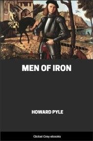 cover page for the Global Grey edition of Men of Iron by Howard Pyle