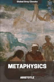 cover page for the Global Grey edition of Metaphysics by Aristotle