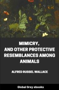 cover page for the Global Grey edition of Mimicry, and Other Protective Resemblances Among Animals by Alfred Russel Wallace