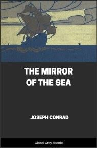 cover page for the Global Grey edition of The Mirror of the Sea by Joseph Conrad