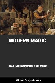 cover page for the Global Grey edition of Modern Magic by Maximilian Schele de Vere
