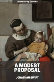 cover page for the Global Grey edition of A Modest Proposal by Jonathan Swift