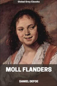 cover page for the Global Grey edition of Moll Flanders by Daniel Defoe
