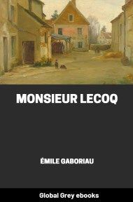 Cover for the Global Grey edition of Monsieur Lecoq by Émile Gaboriau