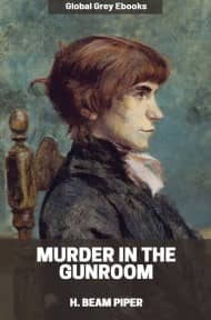 cover page for the Global Grey edition of Murder in the Gunroom by H. Beam Piper