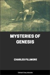 cover page for the Global Grey edition of Mysteries of Genesis by Charles Fillmore