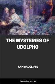 cover page for the Global Grey edition of The Mysteries of Udolpho by Ann Radcliffe
