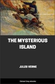 cover page for the Global Grey edition of The Mysterious Island by Jules Verne