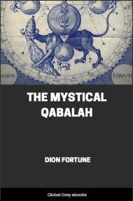 cover page for the Global Grey edition of The Mystical Qabalah by Dion Fortune