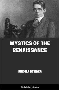 cover page for the Global Grey edition of Mystics of the Renaissance by Rudolf Steiner