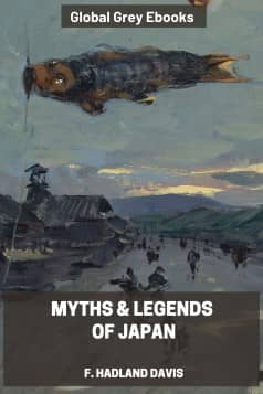 cover page for the Global Grey edition of Myths & Legends of Japan by F. Hadland Davis
