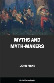 cover page for the Global Grey edition of Myths and Myth-Makers by John Fiske