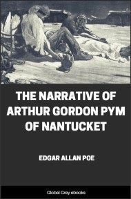 cover page for the Global Grey edition of The Narrative of Arthur Gordon Pym of Nantucket by Edgar Allan Poe