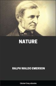 cover page for the Global Grey edition of Nature by Ralph Waldo Emerson