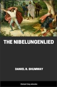 cover page for the Global Grey edition of The Nibelungenlied by Daniel B. Shumway