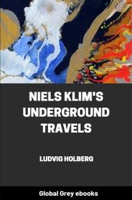 cover page for the Global Grey edition of Niels Klim's Underground Travels by Ludvig Holberg