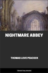 cover page for the Global Grey edition of Nightmare Abbey By Thomas Love Peacock
