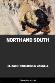 cover page for the Global Grey edition of North and South By Elizabeth Cleghorn Gaskell