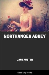 cover page for the Global Grey edition of Northanger Abbey by Jane Austen